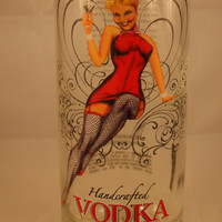 20 Ounce Pure Soy Candle in Reclaimed Valentine Vodka Liquor Bottle - Your Choice of Scent