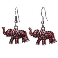 Crimson Elephant Earring