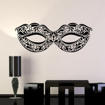 Vinyl Wall Decal Masquerade Mask Ball Dancing Party Festival Stickers Unique Gift (ig4947)