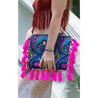 """""""Floral Ibiza"""" - Oversized Clutch"""