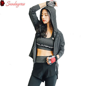 3 Pieces Elastic Sports Suit Women Brand Clothing Sexy Slim Yoga Fitness Sets Training Running Set Slinky Track Suits For Female