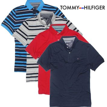 ✅NEW! Tommy Hilfiger Men's Classic Short Sleeve Polo Shirt VARIETY