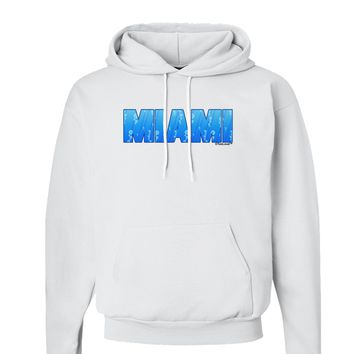 Miami Ocean Bubbles Hoodie Sweatshirt  by TooLoud
