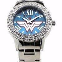 """Wonder Woman """"Justice"""" Silver-tone Watch (WOW8062)"""