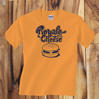 Trendy Pop Culture Pulp Fiction Royale with Cheese tee t-shirt tshirt Toddler Youth Adult Unisex Ladies Female Orange