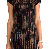 6 SHORE ROAD Miracle Cap Sleeve Mini Dress in Black