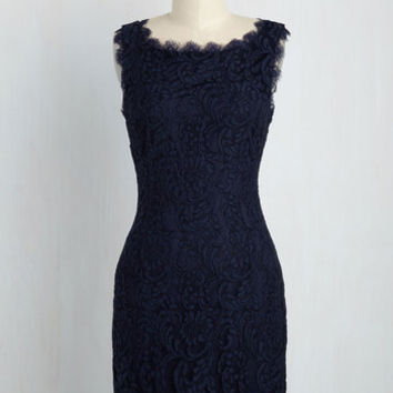 Wondrous in a Million Dress in Navy | Mod Retro Vintage Dresses | ModCloth.com