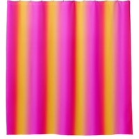Citrus Striped Shower Curtain