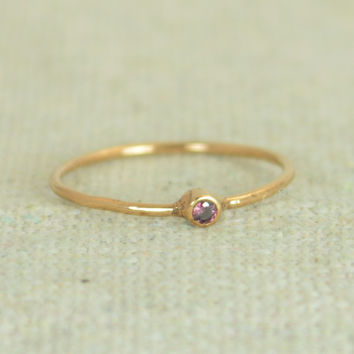 Tiny Rose Gold Filled Alexandrite Ring
