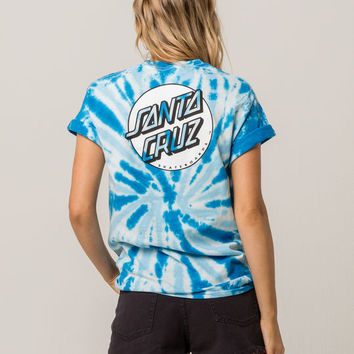SANTA CRUZ Missing Dot Blue Womens Tee