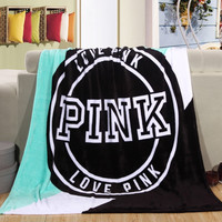 2016 Free shipping New warm blanket Soft Blanket on bed Coral Fleece Warm Throw Blankets travel blanket 130*160cm without label