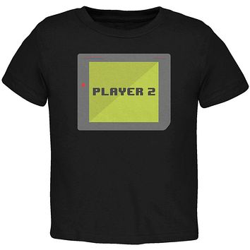 Halloween Old School Gamer Player 2 Toddler T Shirt