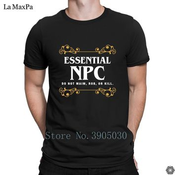 Weird Best T-Shirt Essential Npc Bot Tabletop Rpg Slaying Dragons In Dungeons Dnd T Shirt For Men O-Neck Standard Male