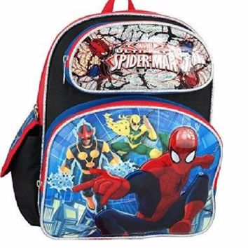 "Marvel Ultimate Spiderman Toddler 12"" Boys Backpack"