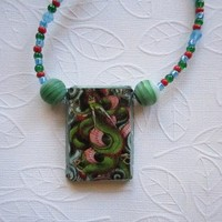 "19"" Multi colored Eye Pendant necklace"