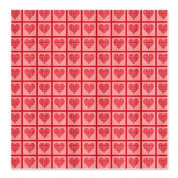 Polka Dot Heart Pattern Shower Curtain> Valentines Gifts> Hippy Gift Shop Funky Hippie Gifts