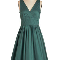 ModCloth Sleeveless Fit & Flare Lesson in Allure Dress