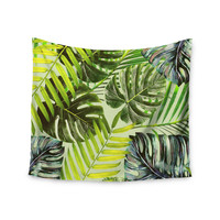 "Alison Coxon ""Jungle Green"" Green Yellow Wall Tapestry"