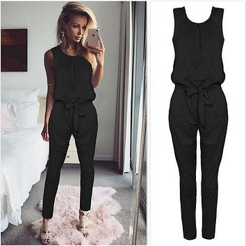 557b914d902d Sexy Sleeveless jumpsuit women long romper 2019 New summer women lady  Fashion jumpsuit coveralls sexy female