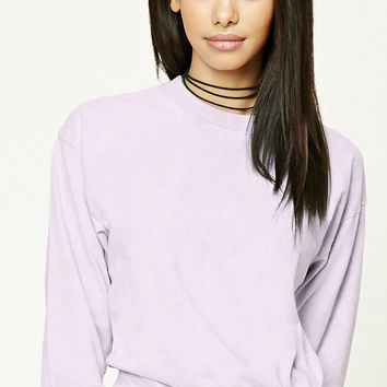 Acid Wash Knotted-Hem Top