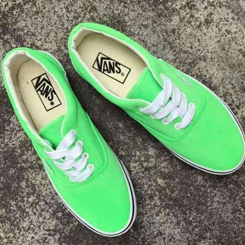 DCCKBWS shosouvenir :Vans Authentic Women's Fluorescence Color Canvas Shoes Sneakers