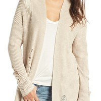 BP. Distressed Cotton Cardigan | Nordstrom