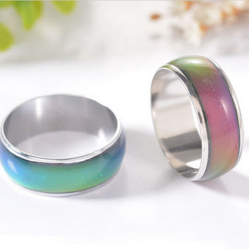 mood ring wedding rings  with the temperature change color magic rings for women/men