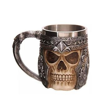 Gold Black Skull Tea Coffee Mug Cup