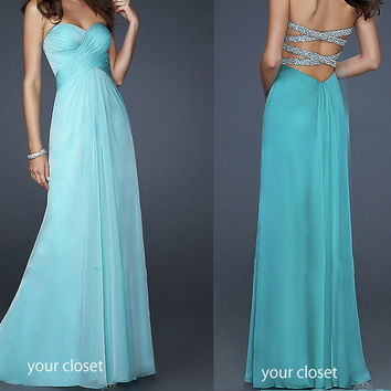 Elegant chiffon prom/ball dress  from Your Closet