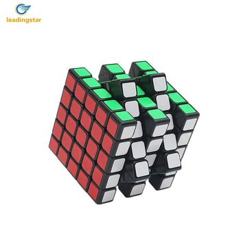 LeadingStar  Five-order Cube Black Cube Puzzle Cube for Kids Brain Teaser Cubo Magico Toys zk25
