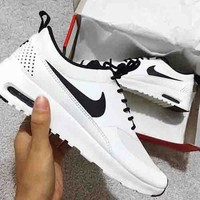 """NIKE"" Trending Classic Women Men Leisure Running Sport Shoes Sneakers White I"