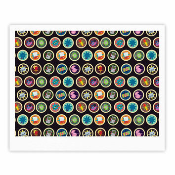 "Stephanie Vaeth ""Toys, Games & Candy"" Multicolor Pattern Fine Art Gallery Print"