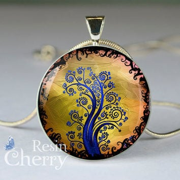 tree pendant, tree resin pendants,tree pendant charms- D0825CP