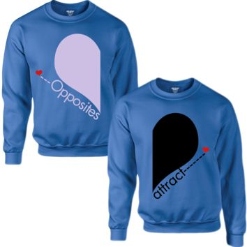 OPPOSITE AND ATTRACT COUPLE SWEATSHIRT