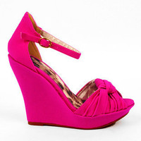 Ceduce Knotted Wedges in Fuchsia :: tobi