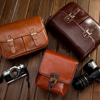 Leather Messenger The DSLR  Camera Bag
