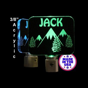 Personalized Mountains Night Light