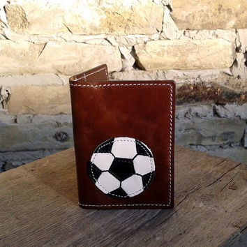 Credit Card Wallet For 4 Credit Cards With Football / Soccer Ball
