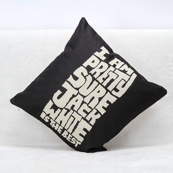 Jack White Cotton Cushion Cover
