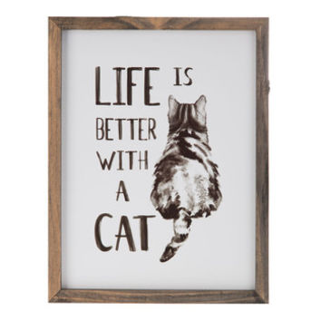 Life Is Better With A Cat Wood Wall Decor | Hobby Lobby | 1491505
