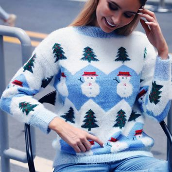 Hot style sells women's sweater with round neck