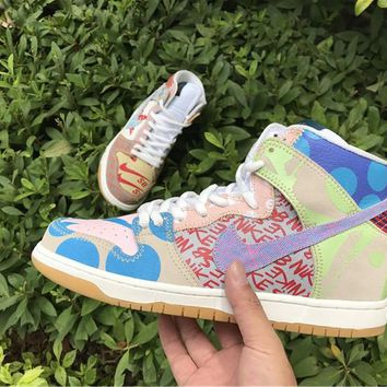[ Free Shipping ]Nike SB Dunk High What The Thomas Campbell 918321 381  Basketball Shoes