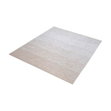 8905-034 Delight Handmade Cotton Rug In Beige And White - 16-Inch Square