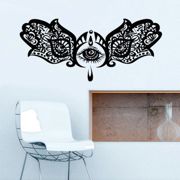 Wall Decal Vinyl Sticker Decals Hamsa Hand Eye Indian Yoga  Buddha Ganesh Fatima Namaste (z2633)