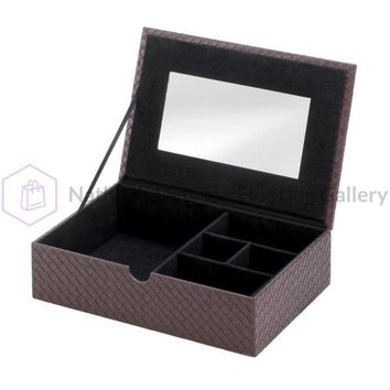 Faux Leather Jewelry Treasure Box