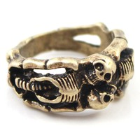 Antique Skull Ring - OASAP.com