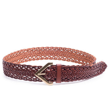 Braided Triangle Buckle Belt