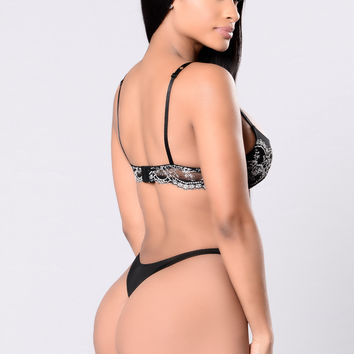 Fit For A Goddess Thong - Black