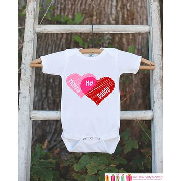 Pregnancy Announcement - Mommy + Daddy = Me - Pregnancy Reveal Idea - Baby On The Way Announcement - Surprise New Grandparents - Hearts