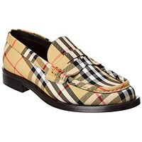 BURBERRY Vintage Check Loafer, 38, Brown